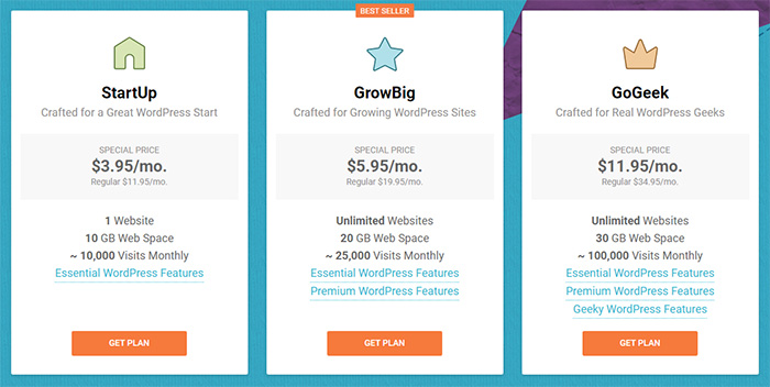 WordPress & WooCommerce Hosting Service Plan