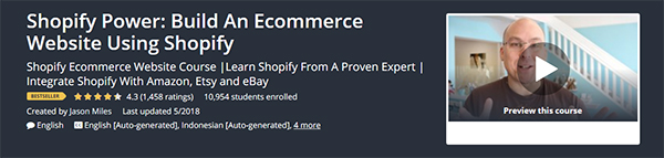 Shopify Power: Build An Ecommerce Website Using Shopify
